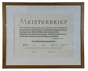 Orthopädie Aulenkamp Meisterbrief Bernhard Aulenkamp 1983
