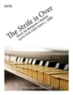 SDG Creative - The Strife is Over SATB score