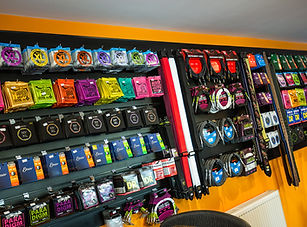 The Hive Rooms music shop in Horley, Surrey.  Great rnge of strings, drum sticks and heads as well as many more music accessories