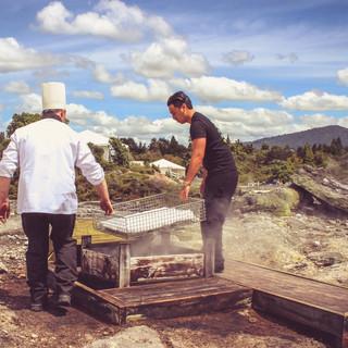 Maori cooking