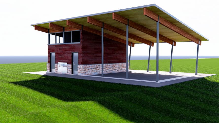 Pavilion conceptual rendering