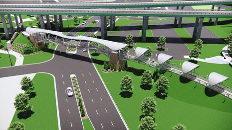 Rendering - pedestrian bridge