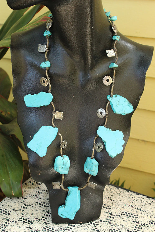 Handmade Raw Turquoise Necklace