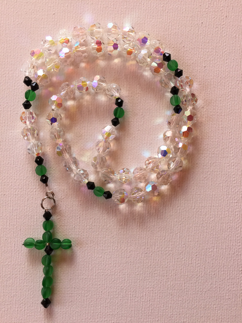 Classic Crystal Rosary $25
