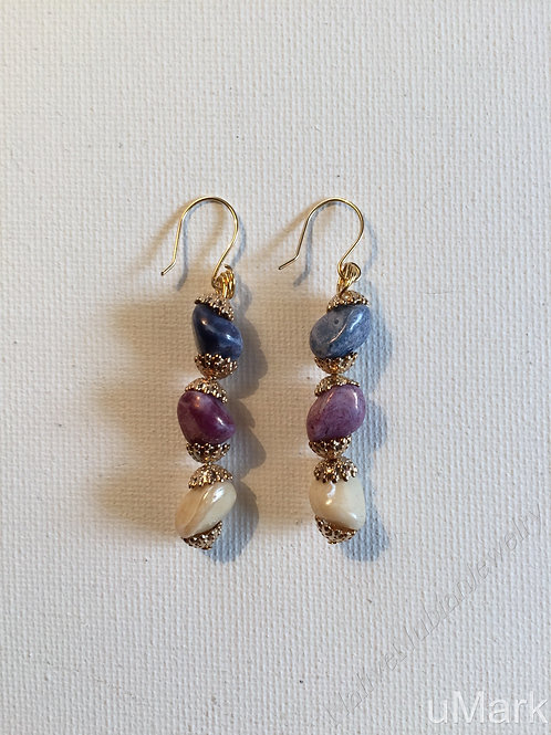 """Olanma- 2 1/2"""" Drop Earrings"""