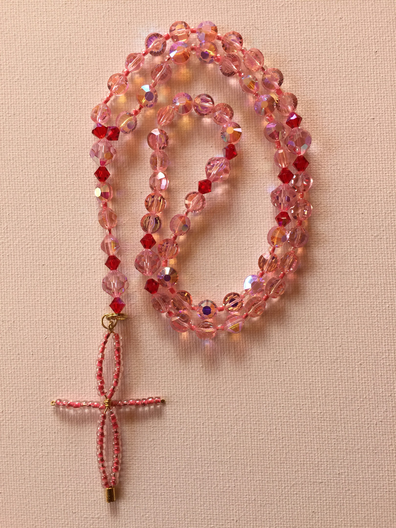 Blush Rosary $25