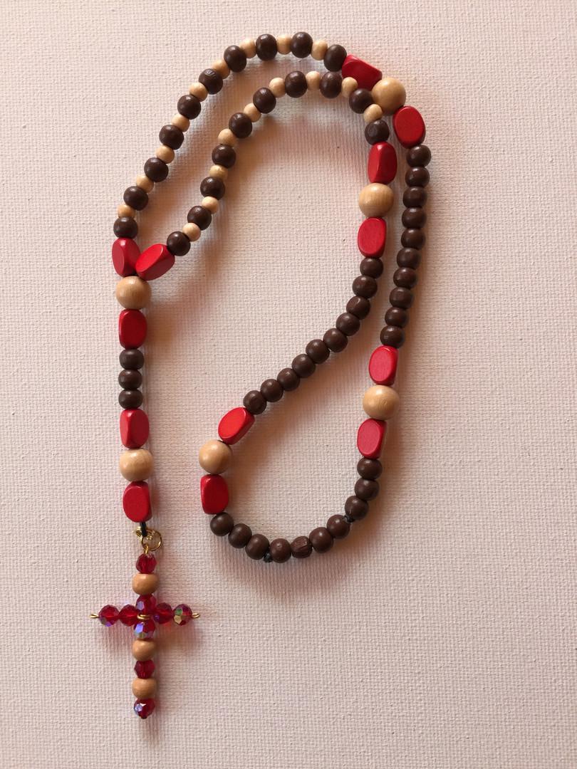 Wood Rosary $25