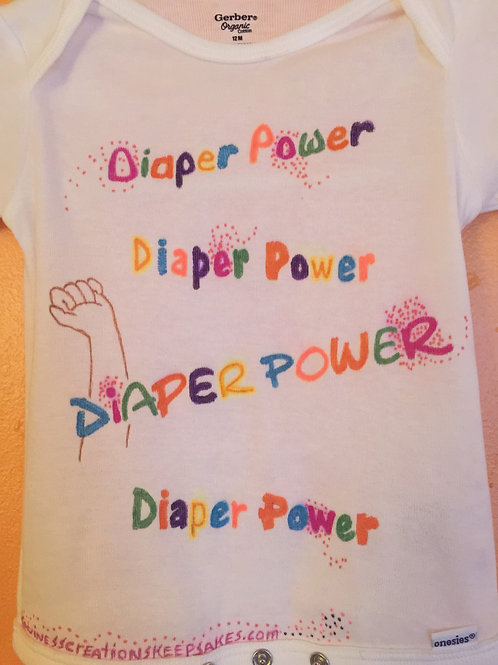Diaper Power Onesie (click image to see back)