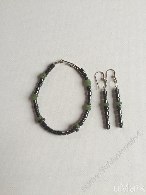 """Obiageli- 8 1/2"""" Wrist Bracelet Set"""