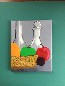 Fruit and Bottles