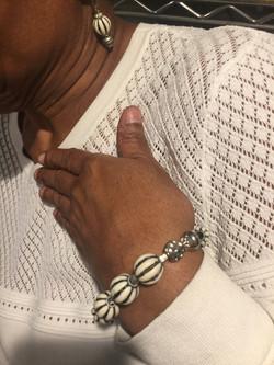 Earring and Wrist Set
