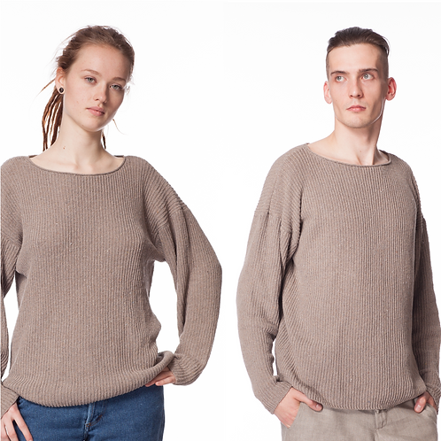 2ND LIFE PULLOVER taupe grey UNISEX