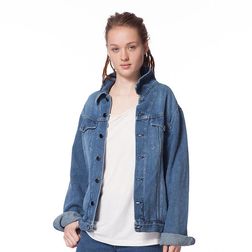 BAD DENIM JACKET unisex stone washed