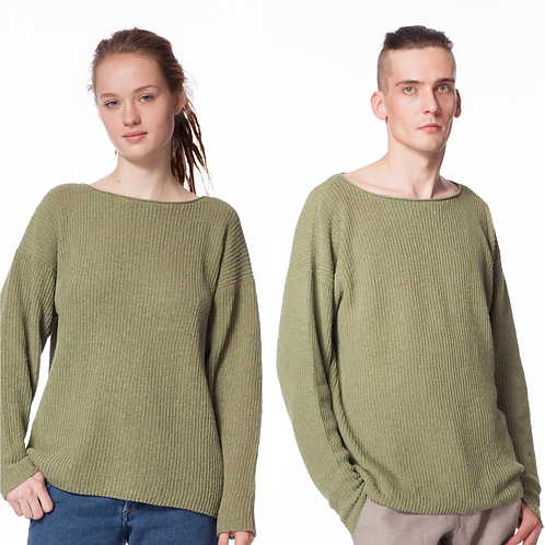 2ND LIFE PULLOVER spinach green UNISEX