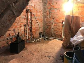 施工中水電配管
