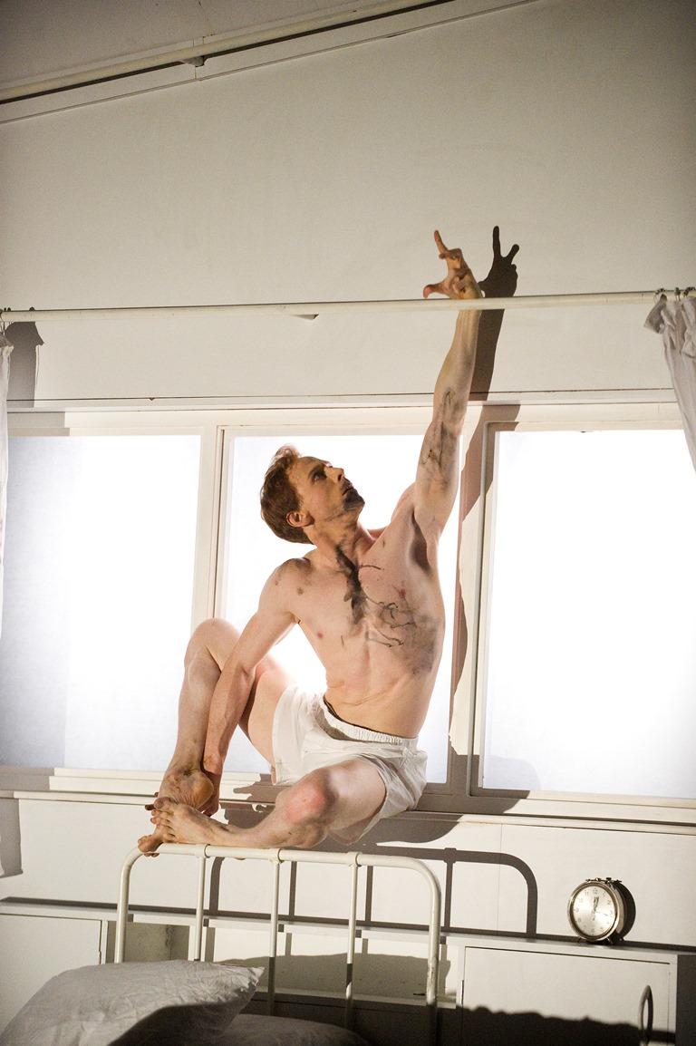 Edward Watson as Gregor Samsa in The Met