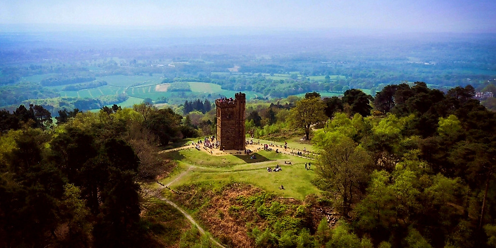 Leith Hill, Sea of Bluebells and Waterfall - 18 kilometres day hike