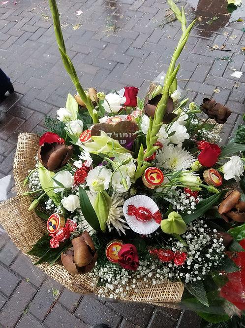 זר פרחים מס' 9