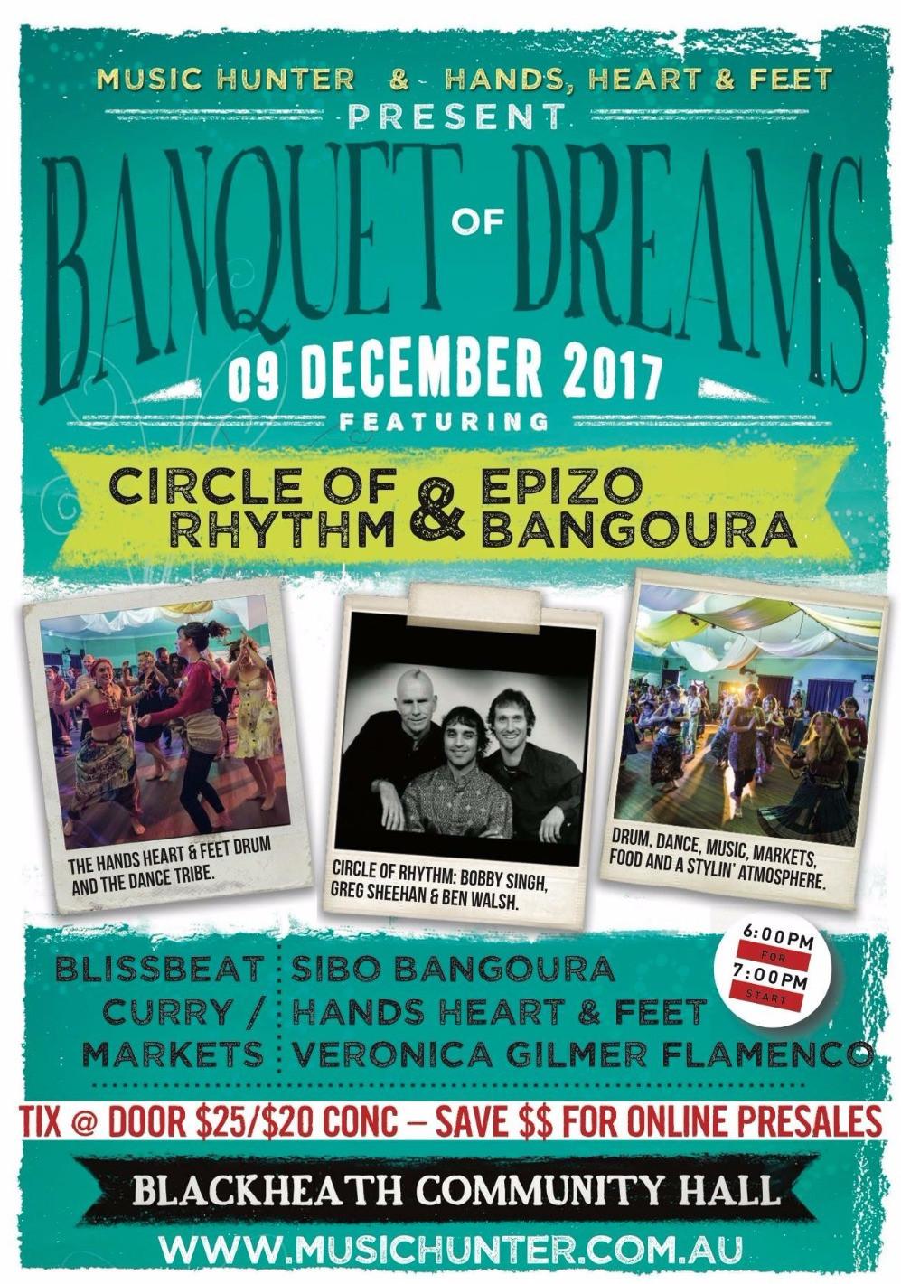 Banquet of Dreams Sat 9th Dec 2017