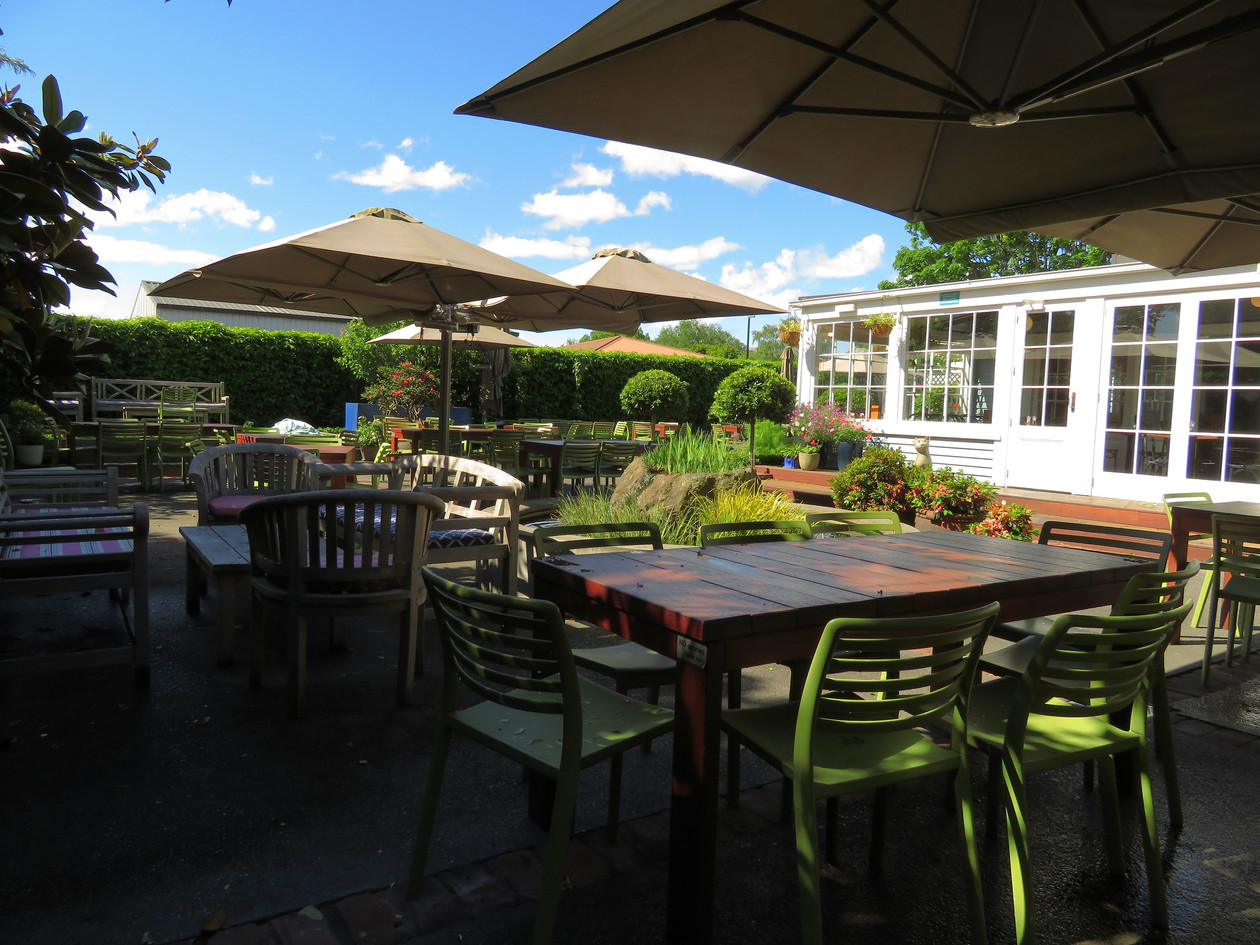 Our beautiful sunny outdoor seating area