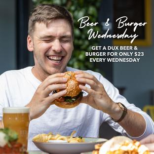 Beer & Burger Deal