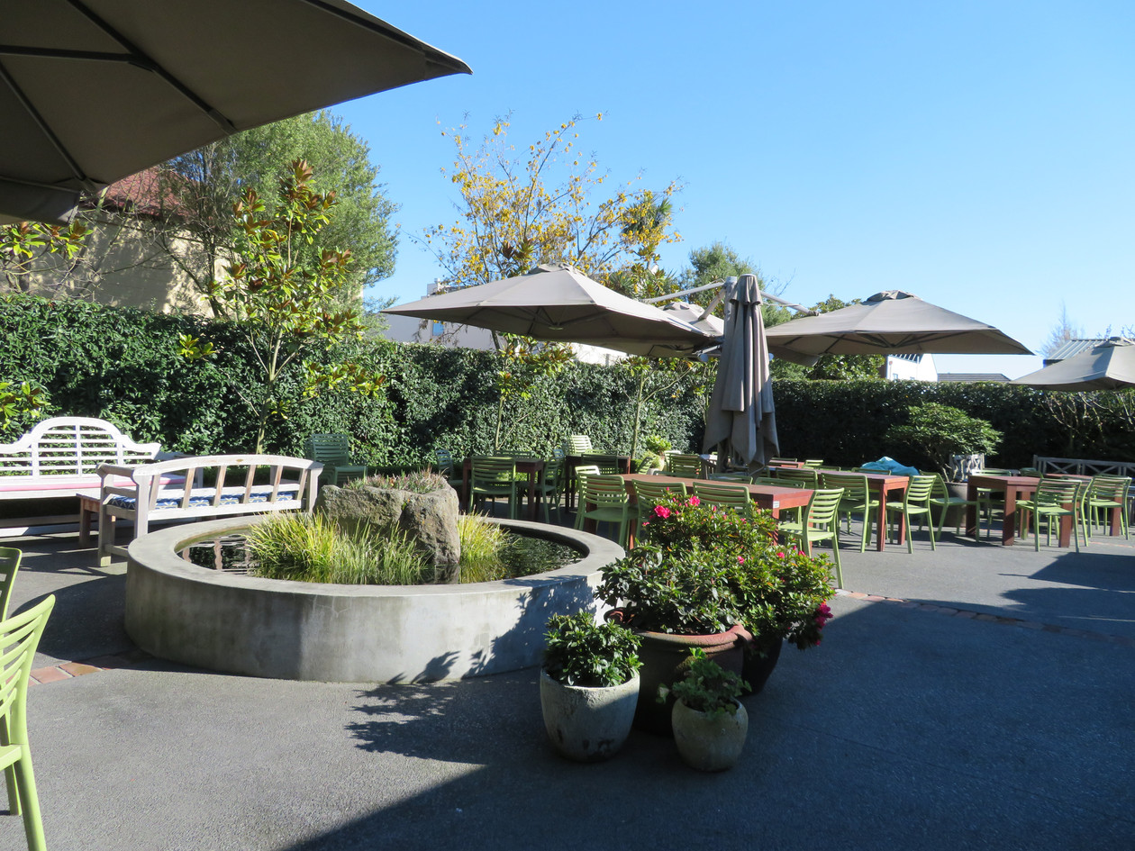 Our beautiful outdoor seating area
