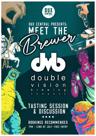 Our monthly Meet The Brewer beer tasting and discussion ft. Double Vision Brewery.