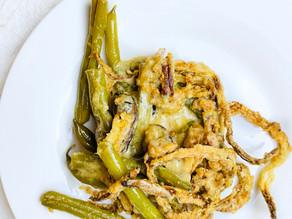 White Wine Green Bean Casserole With Air-Fried Onions