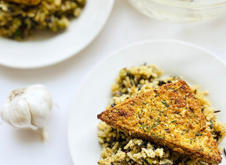Plant-Based For Two: Crispy Caesar Tofu & Wild Rice