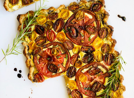 "Balsamic Heirloom Tomato & ""Ricotta"" Galette"