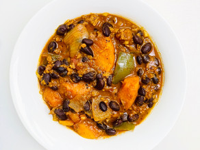 Carolina BBQ Sweet Potato Chili