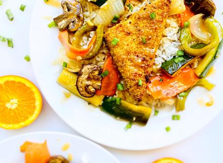 Plant-Based For Two: Crispy Orange Tofu & Steamed Vegetables En Papillote