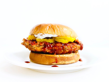 "Sweet Heat Fried ""Chicken"" Sandwich"