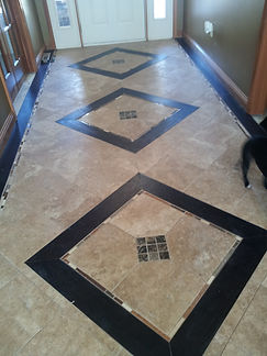 flooring, Travertine tile, glass tile, wood, marble tile, entryway floor