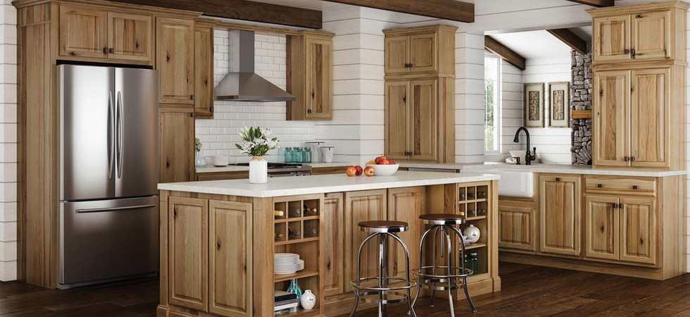 Oak Cabinets with island