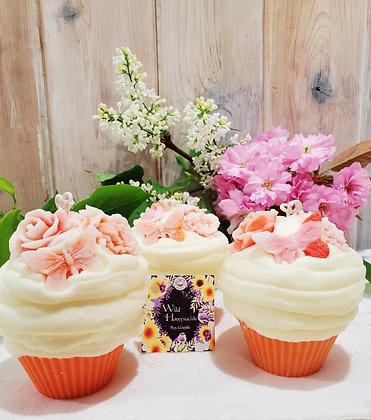 Wild Honeysuckle Cupcake Candle