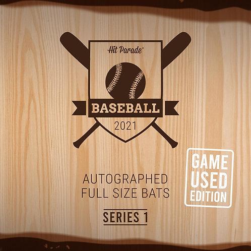 Autographed Game Used Baseball Bat Hobby Box