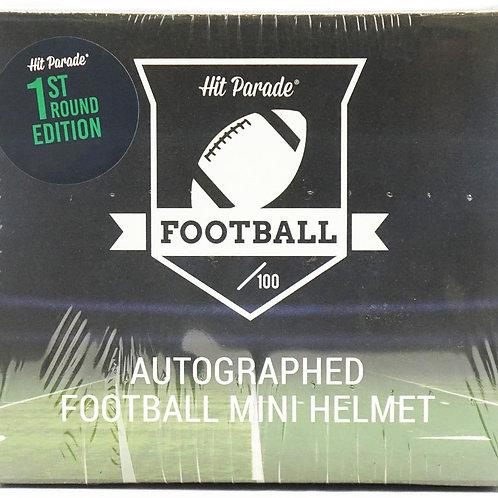 Autographed Football Mini Helmet 1st Round Edition Hobby Box