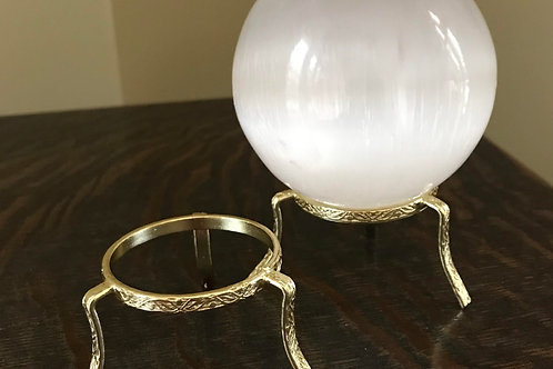 Brass Egg/Sphere Stand - small