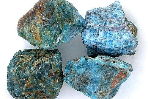 Apatite, blue, raw