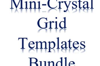 5 Mini-Crystal Grid Templates Bundle