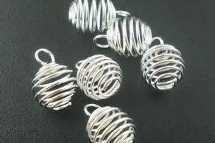 Spiral Gemstone Cage
