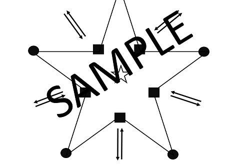 Mini-Pentagram Crystal Grid Template