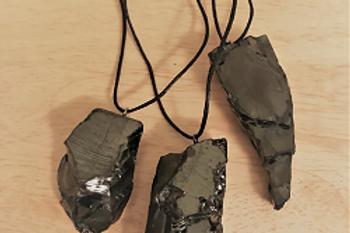 Shungite (Elite/Noble) pendant, raw