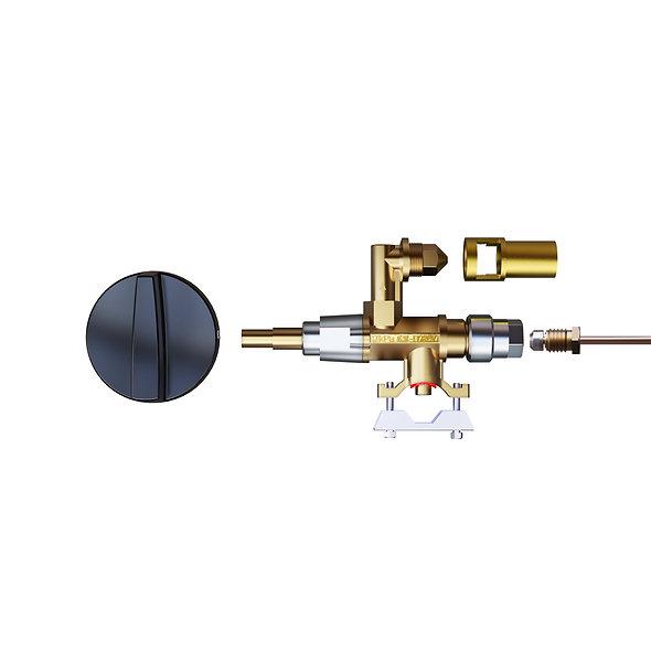 Erdgasumrüstung eines Gasgrills