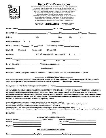 Patient Information Packet