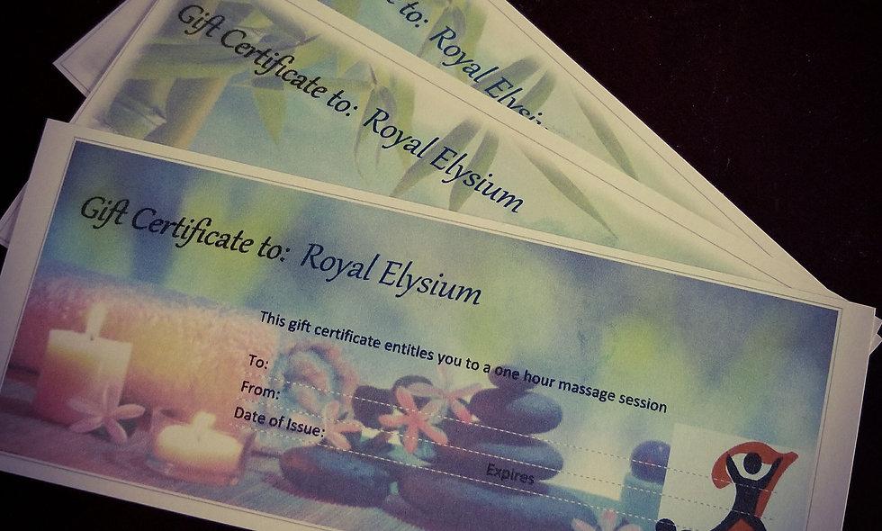 Evolving Bodywork Gift Certificates