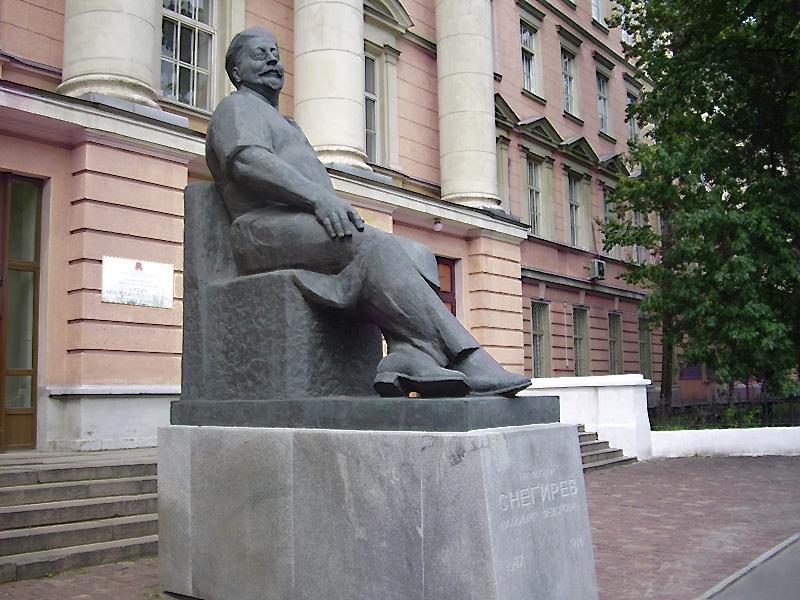 Клиника Центральный вход Памятник В.Ф.Снегирева