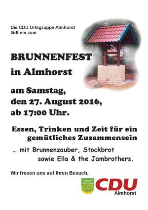 CDU Brunnenfest in Almhorst