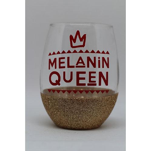 Glitter Stemless Wine Glass